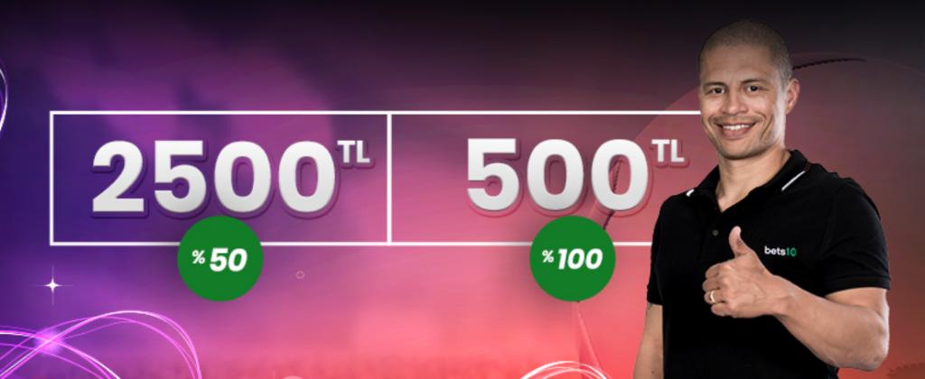 2500 TL Sezon Ortası Bonusu Tüm Avantajı ile Bets10'da